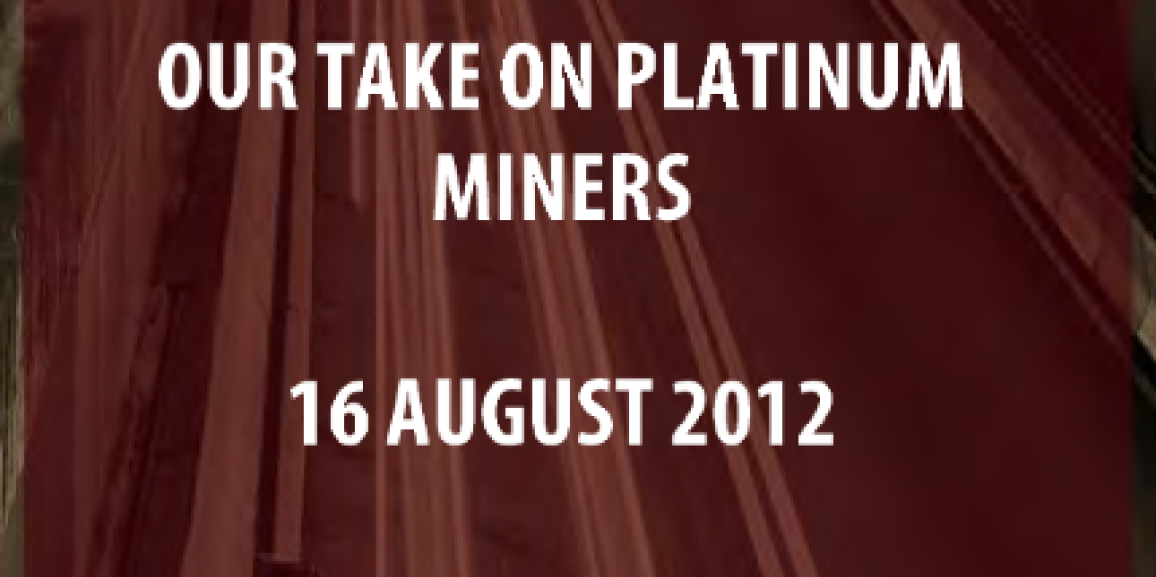 Our Take on Platinum Miners
